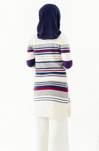 Knitwear Striped Tunic 2130-02 Cream 2130-02
