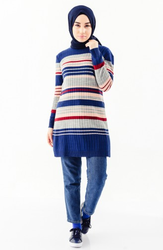 Knitwear Striped Tunic 2130-06 Indigo 2130-06