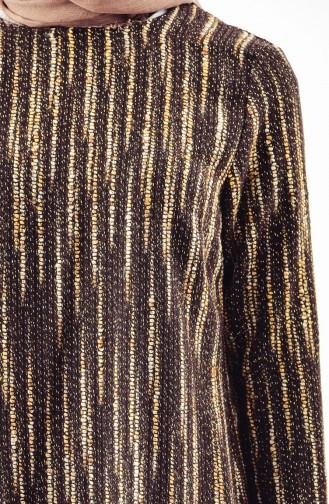 Silvery Winter Tunic 1062-01 Brown 1062-01