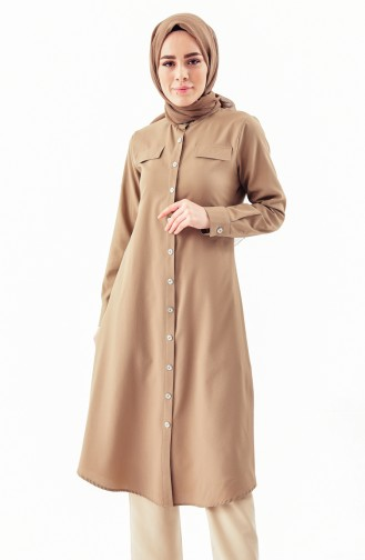 Buttoned Tunic 5007-02 Mink 5007-02