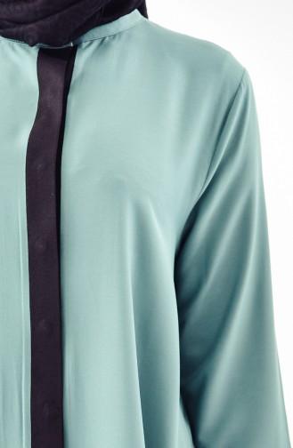 Hidden Button Flywheel Tunic 5010-03 Almond Green 5010-03