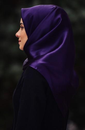 Aker Plain Silk Crepe Satin Shawl 47758-394 Dark Purple 47758-394
