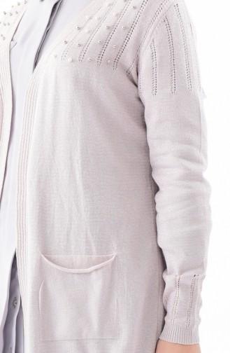 كارديجان تريكو بتصميم مُحاك بخيوط لامعة  2116-01 لون وردي 2116-01