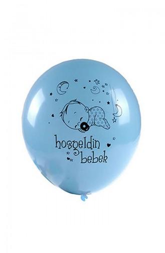 Mavi Hoş Geldin Bebek Balon KM-BLN-0078
