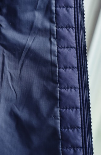 Hooded Padded Vest 1905-04 Navy Blue 1905-04