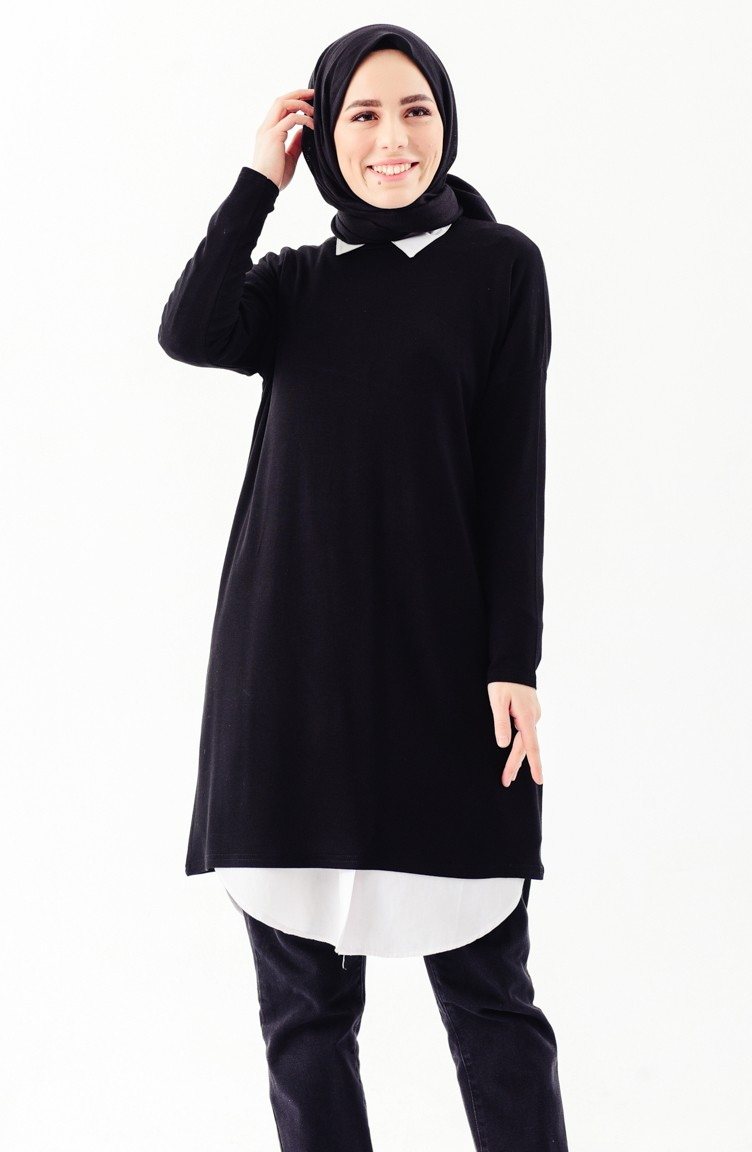 a5849d25afa Seasonal Basic Tunic 7431-01 Black 7431-01