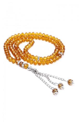 Velvet Covered Yasin with Gift Rosary Prayer Beads 3000-01 Cream 3000-01