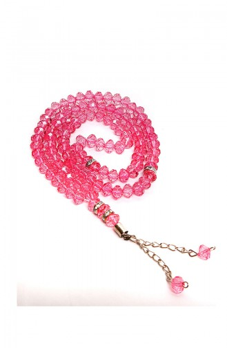 Velvet Covered Yasin with Gift Rosary Prayer Beads 3003-01 Pink 3003-01