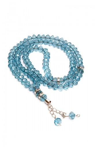 Velvet Covered Yasin with Gift Rosary Prayer Beads 3004-01 Blue 3004-01