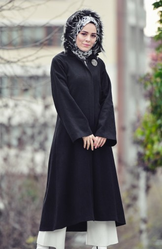 BURUN  Hooded Wool Coat 0602-04 Black 0602-04