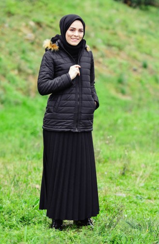 Hooded Padded Cote 1905-03 Black 1905-03