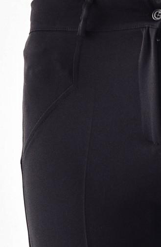 BURUN  Pocket Detailed Straight leg Pants 0158-01 Black 0158-01
