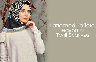 Patterned Rayon and Twill Scarves