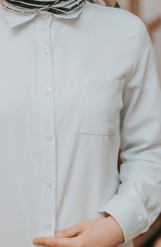ميناهيل تونيك بتصميم أزرار وجيوب 8202-03 لون أبيض 8202-03