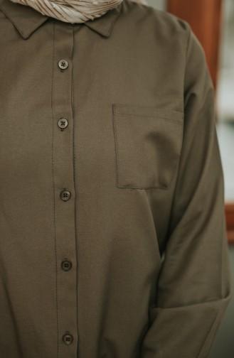 ميناهيل تونيك بتصميم أزرار وجيوب 8202-10 لون أخضر كاكي 8202-10