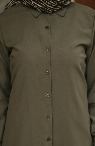 Minahill Button Tunic  8203-03 Khaki 8203-03