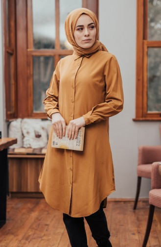 Minahill Button Tunic 8203-06 Mustard 8203-06
