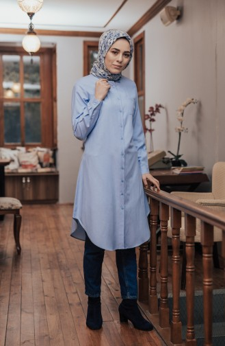Minahill Pocketed Button Tunic 8202-09 Blue 8202-09