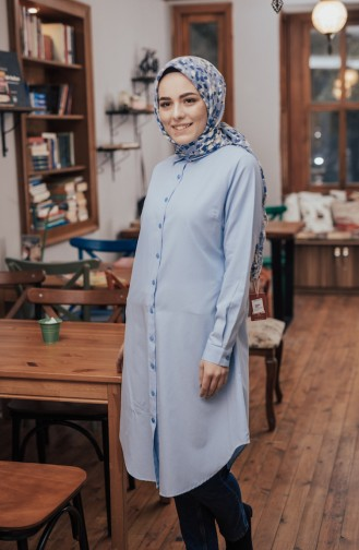 Buttoned Tunic 8203-08 Blue 8203-08