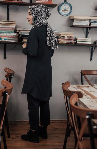 Hakim Yaka Tunik 8201-02 Siyah 8201-02