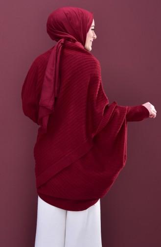 بونشو بتصميم تريكو 2112-03 لون خمري 2112-03