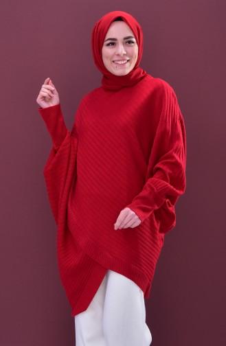 بونشو بتصميم تريكو 2112-06 لون أحمر 2112-06