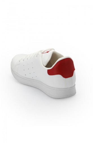 Women Sneakers  2019-01 White Red 2019-01
