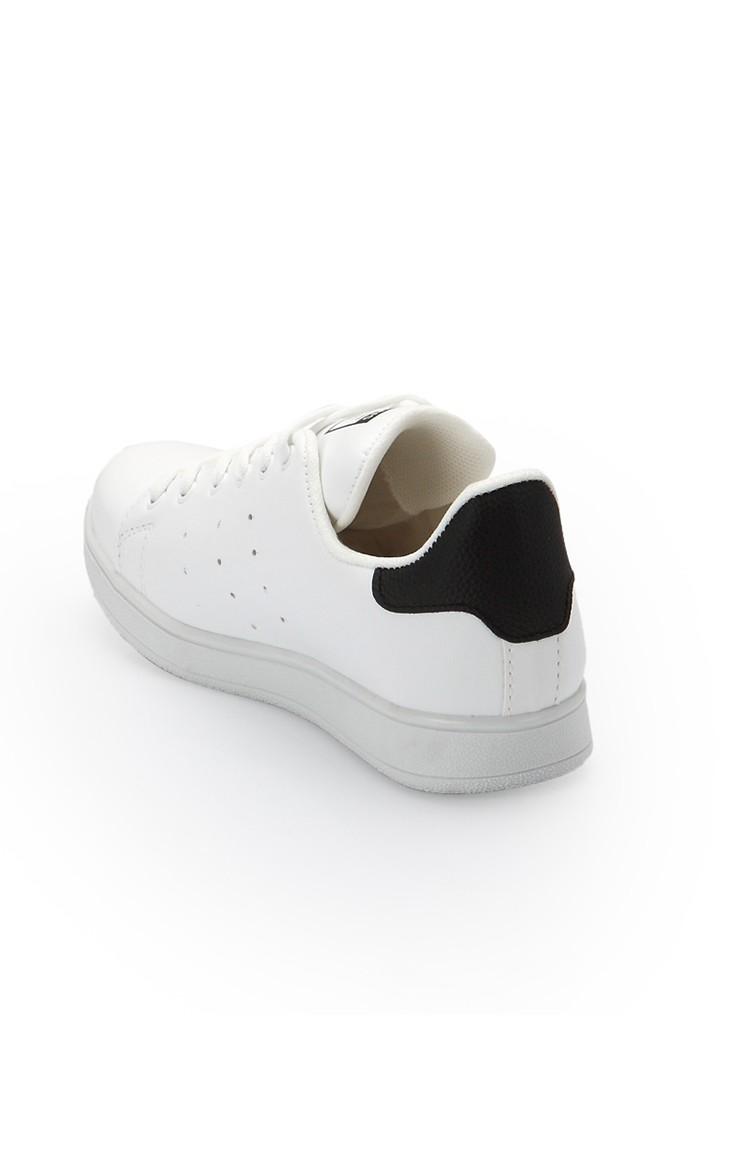 Bayan Spor Ayakkabı 2019 Beyaz Siyah 2019