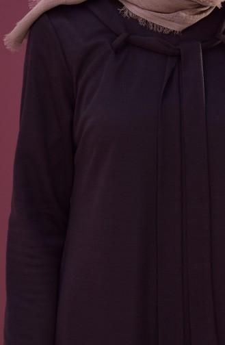 Collar Detail Dress 1031-02 Brown 1031-02