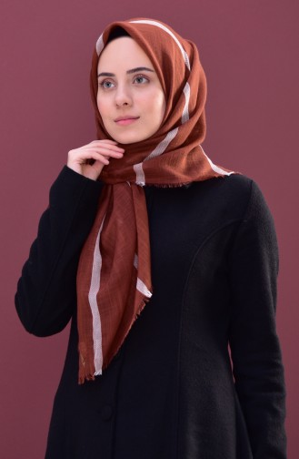 Striped Cotton Scarf 2159-14 Ginger 2159-14