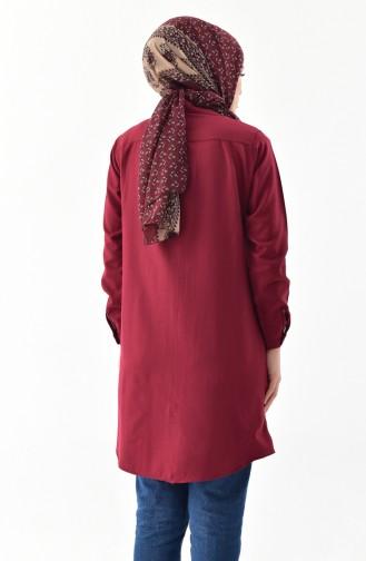 Claret red Overhemdblouse 0694-03