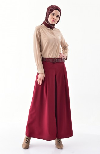 Viscose Pant Skirt 8109-02 Claret Red 8109-02