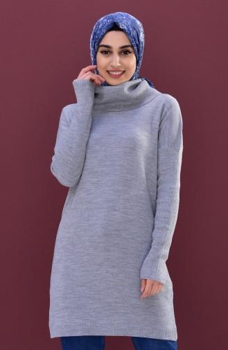 Knitwear Polo-neck Sweater 5162-05 Gray 5162-05