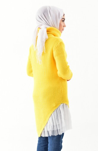 Polo-neck Knitwear Sweater 8011-05 Yellow 8011-05