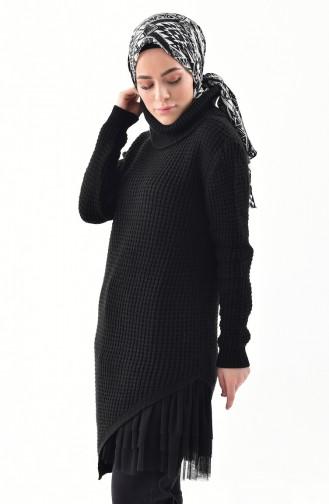 Polo-neck Knitwear Sweater 8011-06 Black 8011-06
