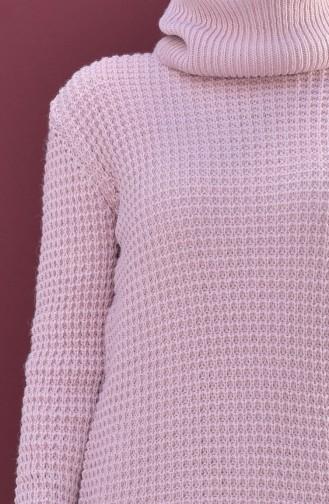 Polo-neck Knitwear Sweater 8011-07 Powder 8011-07