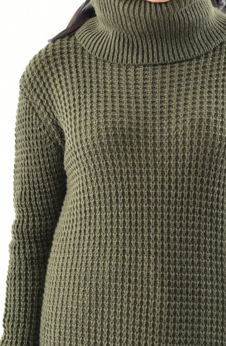 Polo-neck Knitwear Sweater 8011-11 Khaki 8011-11