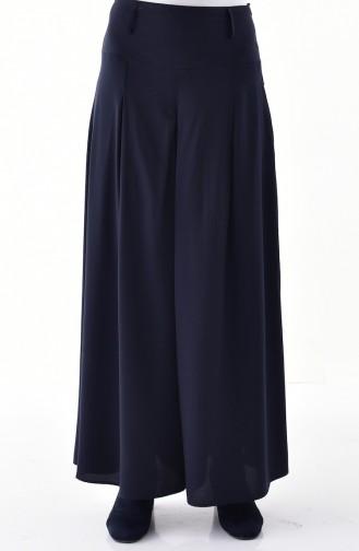 Viscose Pants Skirt 8109-01 Navy Blue 8109-01