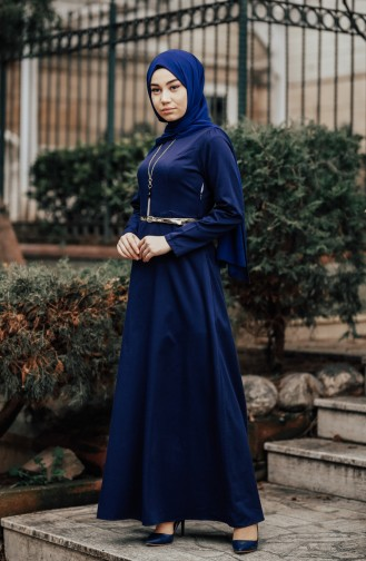 Navy Blue Dress 8212-03