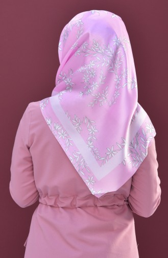 Gemustertes Kopftuch aus Taft 95173-04 Pink 04