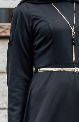 Minahill Belted Necklace Dress 8212-05 Black 8212-05