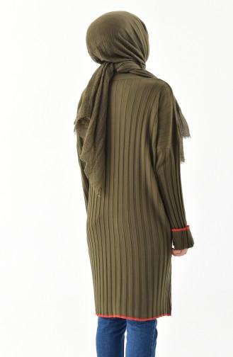 Knitwear Bat Sleeve Tunic 7316-01 Khaki 7316-01