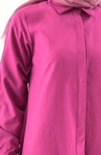Tunik Gömlek 0694-07 Vişne