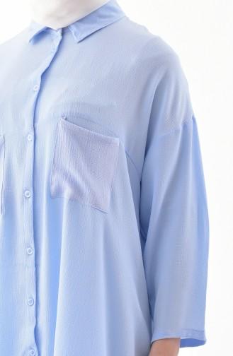 Oversize Shirt 1143-01 Ice Blue 1143-01