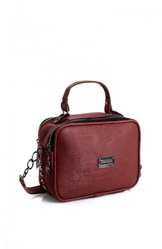Women´s Shoulder Bag Bd10531Bo Claret Red 10531BO