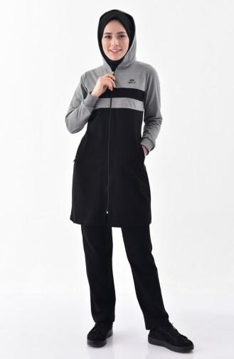 Pocket Tracksuit 95148-02 Gray Black 95148-02