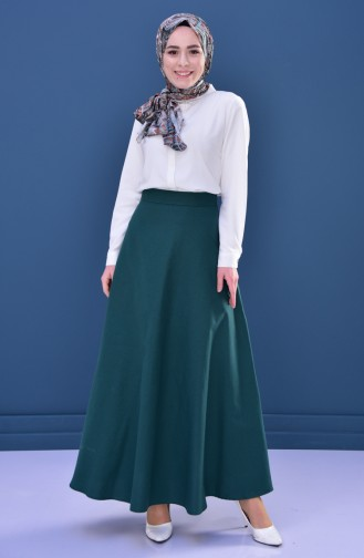 Minahill Zippered Skirt 8211-03 Emerald Green 8211-03