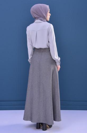 Minahill Zippered Skirt 8211-06 Gray Black 8211-06