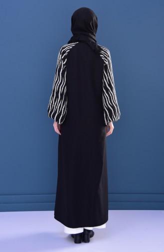 Judge Collar Abaya 4018-01 Black 4018-01
