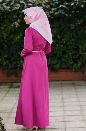 Beige-Rose Hijap Kleider 8212-08